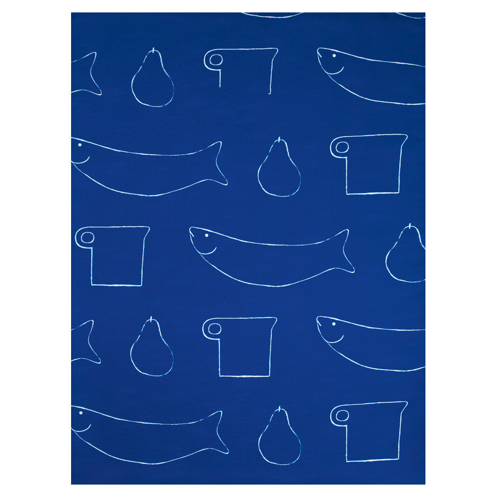 William Scott Blue Linen Table Cloth