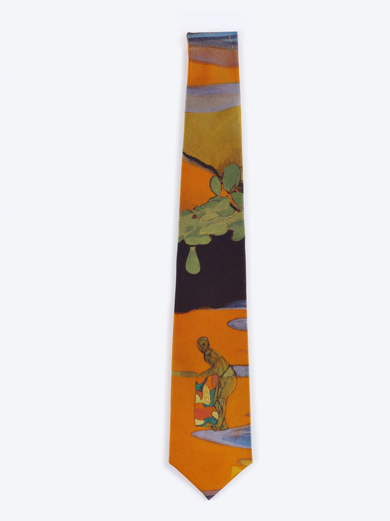 Cricket Painting Tie by Peter Doig