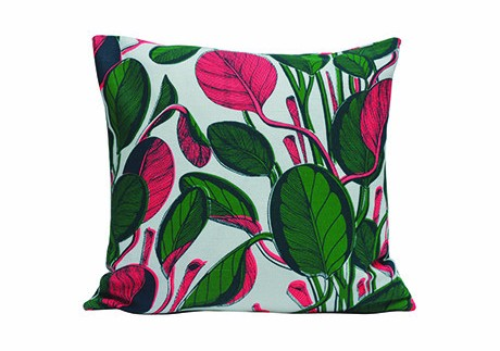 Calathea Cushion - Pink
