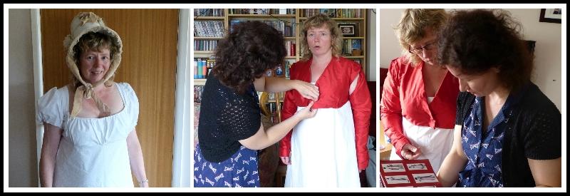 Regency dress making