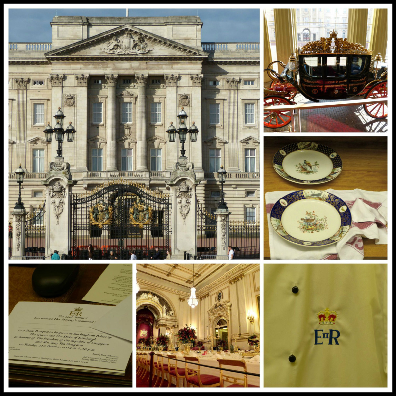 A Royal Welcome at Buckingham Palace collage