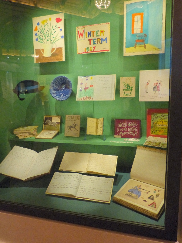 Display from the Royal Childhood exhibition at Buckingham Palace