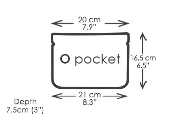 O pocket shoulder bag