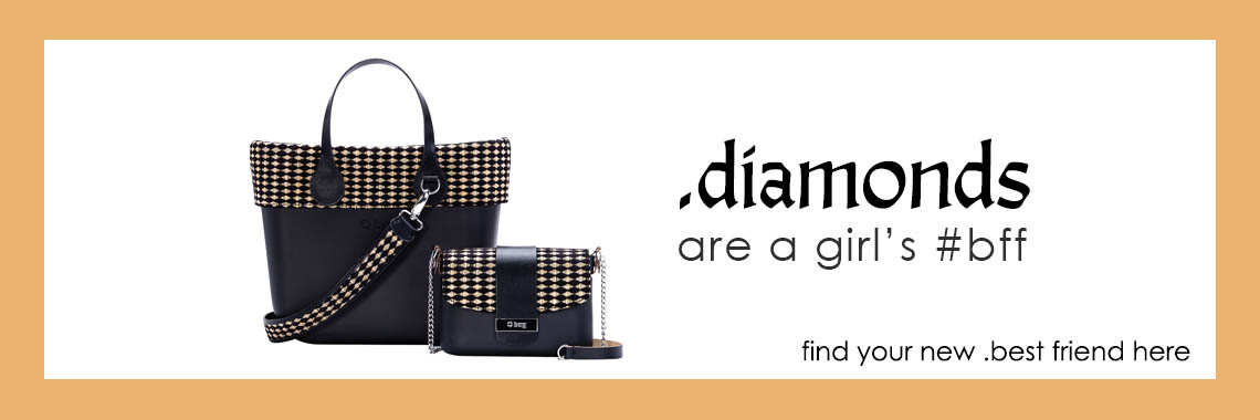 o bag winter collection golden diamonds