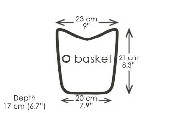 O bag basket shoulder bag