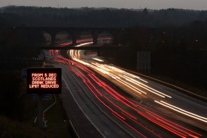 Scotland drink driving laws sign