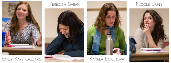 Emily Kaye Lazzaro, Meredith Saran, Kamela Dolinova, and Nicole Dunn