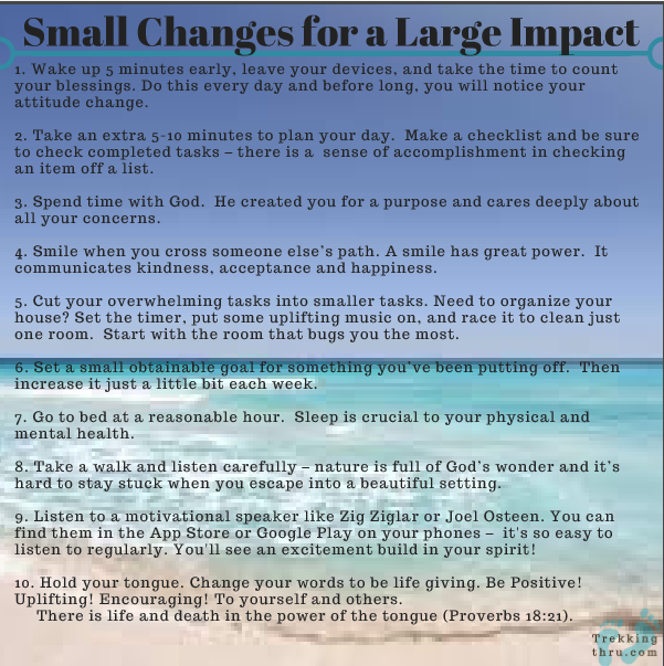 changes, impact, goal setting, motivation, daily dreams