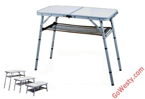 Compact 4-Position Aluminum Camp Table