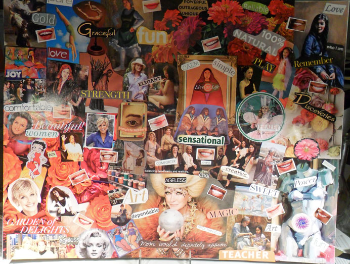 """My """"What it means to be a woman"""" Vision Board"""