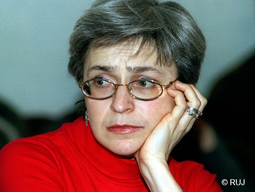 The leading war reporter Anna Politkovskaya was murdered in October 2007.
