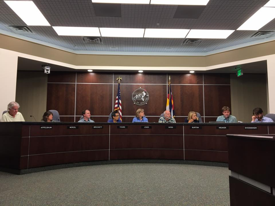 The Boulder City Council as it voted to replace Columbus Day with Indigenous Peoples Day last night. (Photo courtesy Joe Salazar)