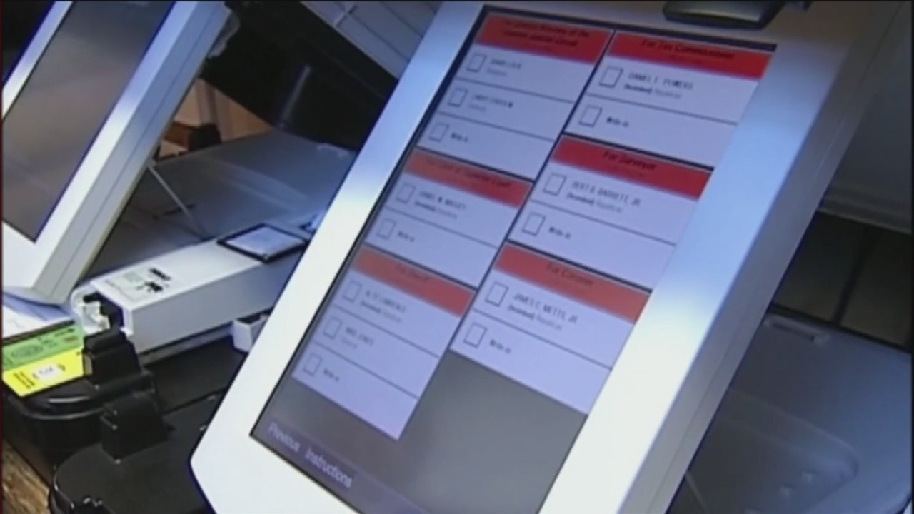 Georgia electronic voting machine