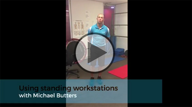 Using standing workstations