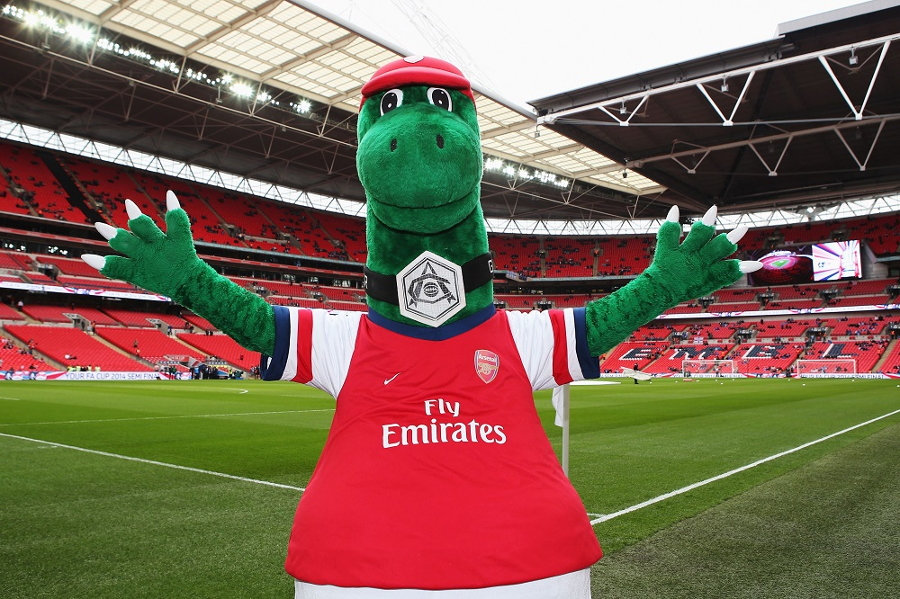 Gunnersaurus Rex is the larger-than-life dinosaur which has been Arsenal's mascot since 1994.