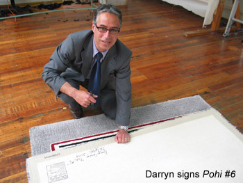 Darryn George signs rug