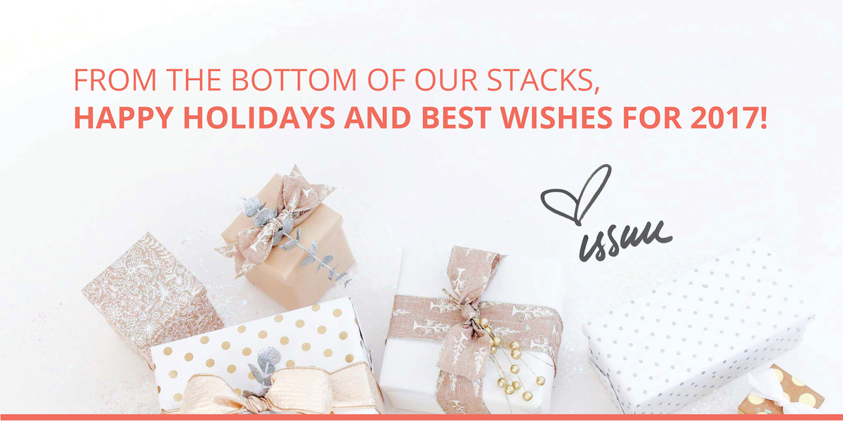 Happy holidays from issuu