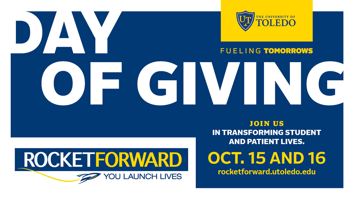 Day of Giving artwork. Join us in transforming student and patient lives Oct. 15 and 16.
