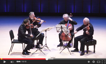 Juilliard Quartet plays Bach Art of Fugue Contrapunctus