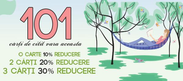 101 carti de citit vara aceasta cu pana la 30% reducere pe carturesti.ro