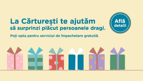 Impachetare gratuita la orice comanda pe carturesti.ro