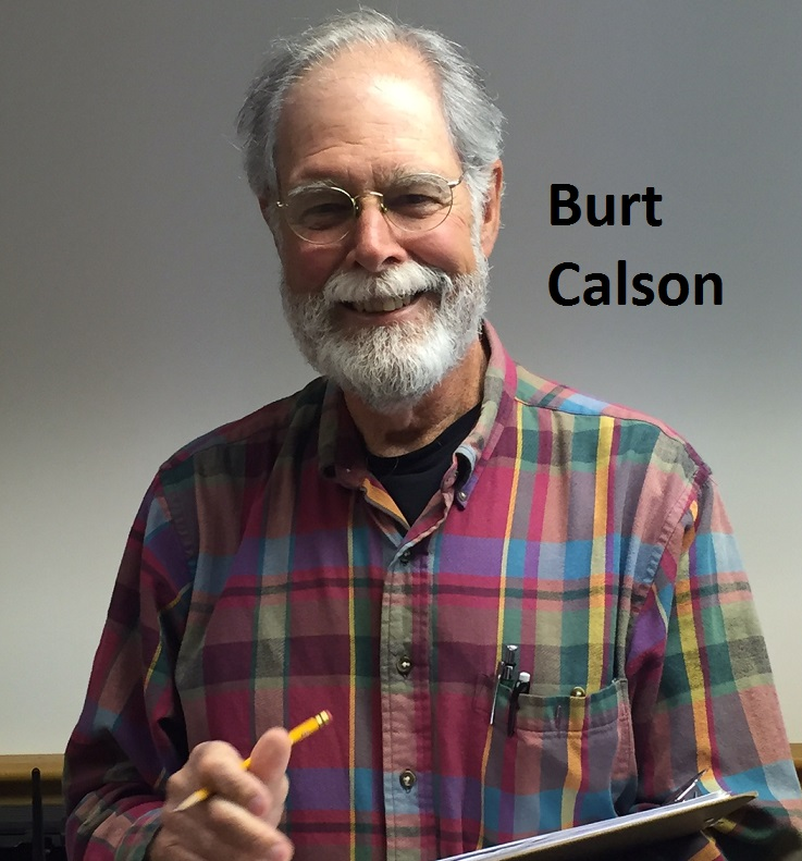 Dr. Burt Calson gets ready to practice phenology!