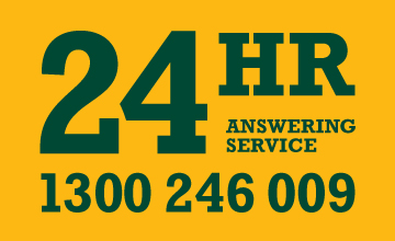24 hr Answering Service – Phone 1300 246 009
