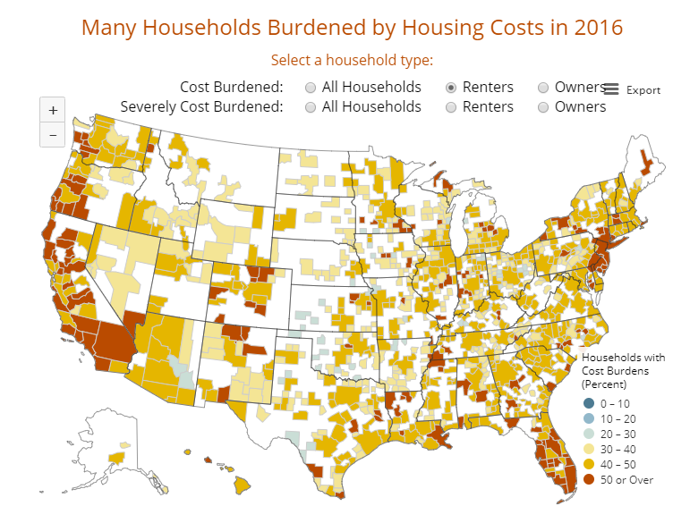 Many Households Burdened by Housing Costs