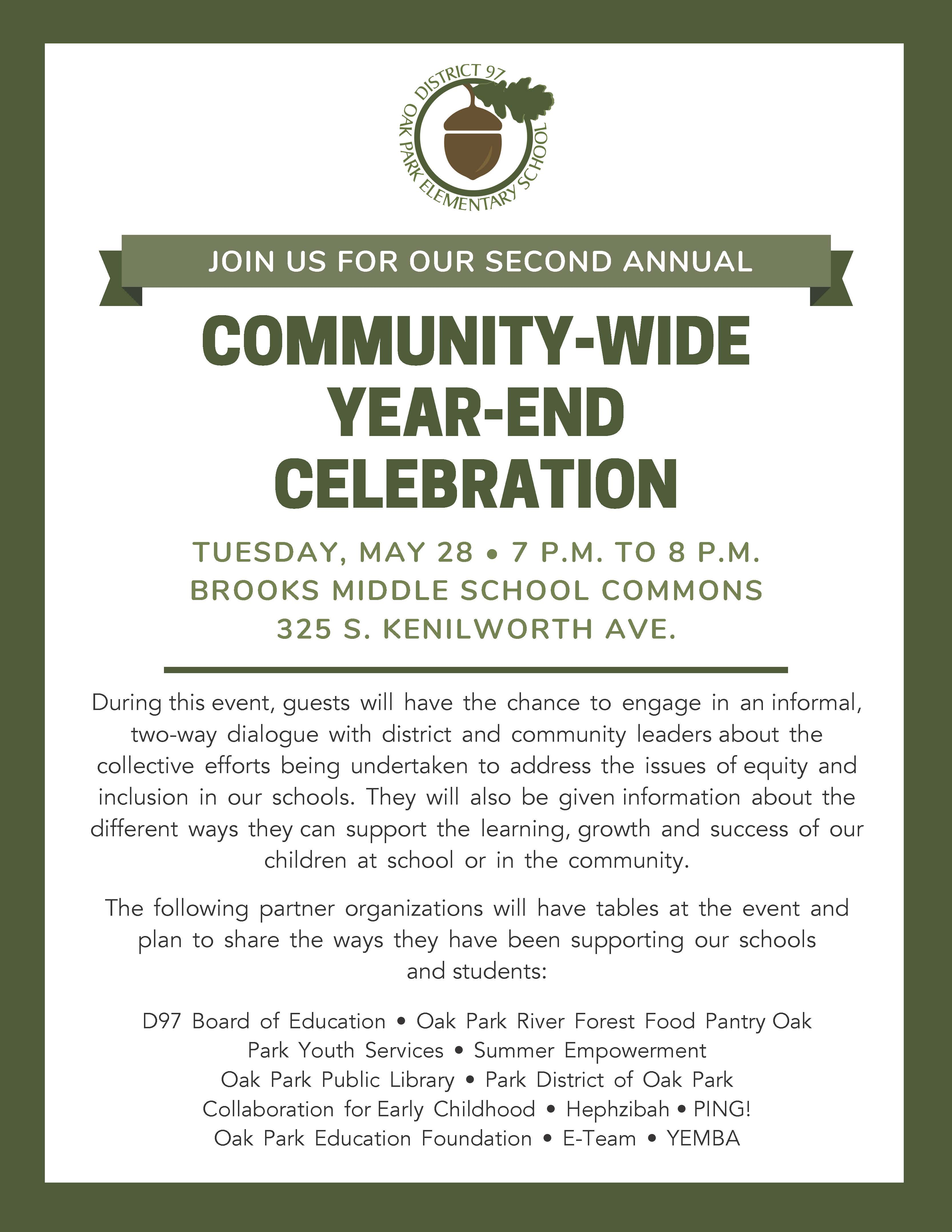 Community-Wide Year-End Celebration Flyer