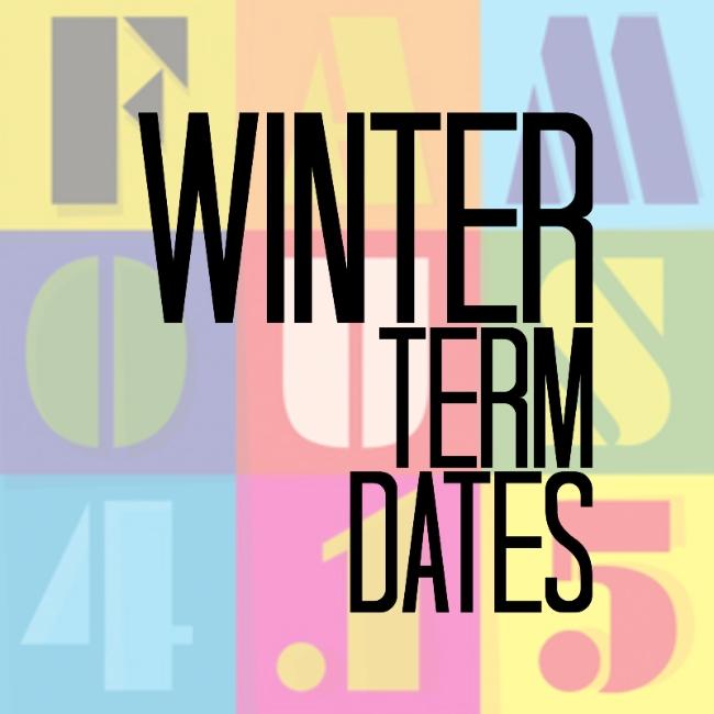 Winter term dates
