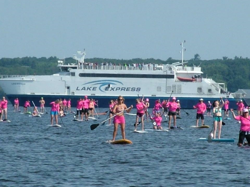 The Sea of Pink Paddlers!!
