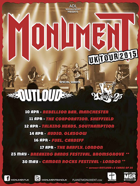 Monument OK Tour - OUTLOUD