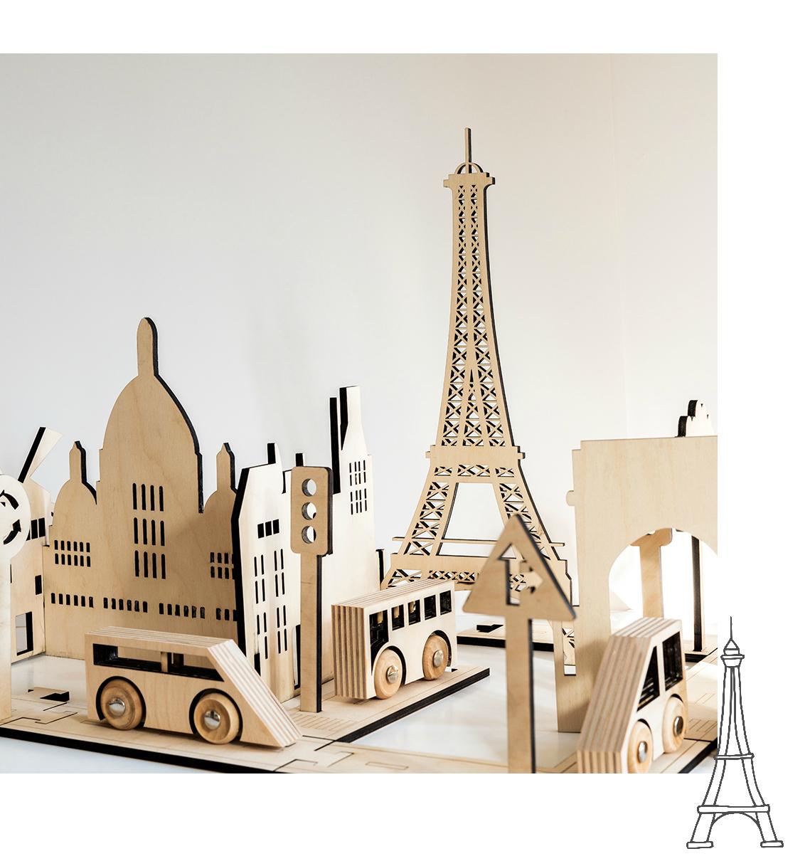 kolekto traffic road toy set