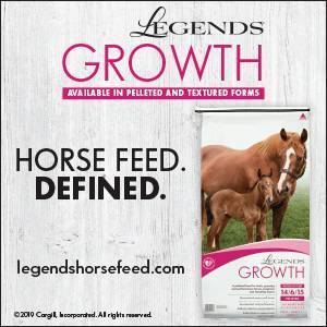 Legends Growth feed: available in pelleted and textured forms