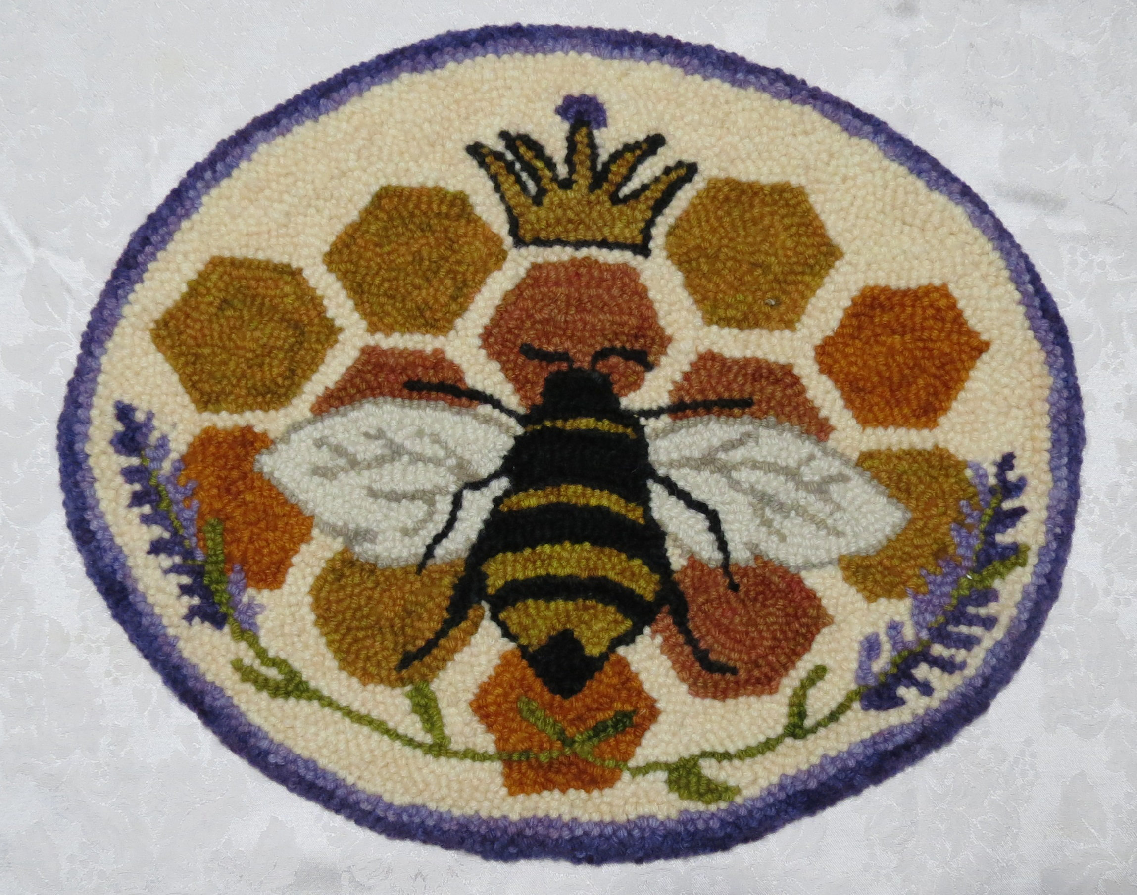 Bee Punched Rug