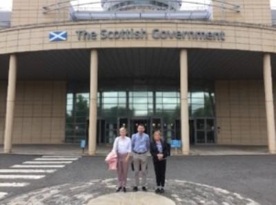 Lucy McKay (INQ), Dan Curran (Scottish Gov review team) and Deborah Coles (INQ)
