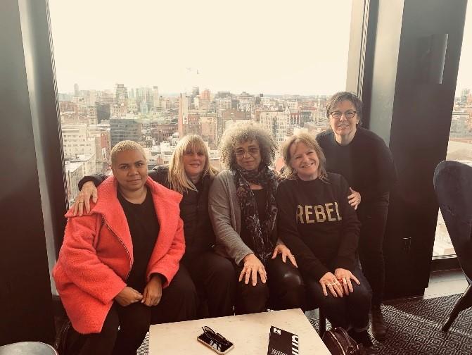 Boneta-Marie Mabo, Debbie Kilroy, Angela Davis, Deborah Coles and Kim Pate in New York