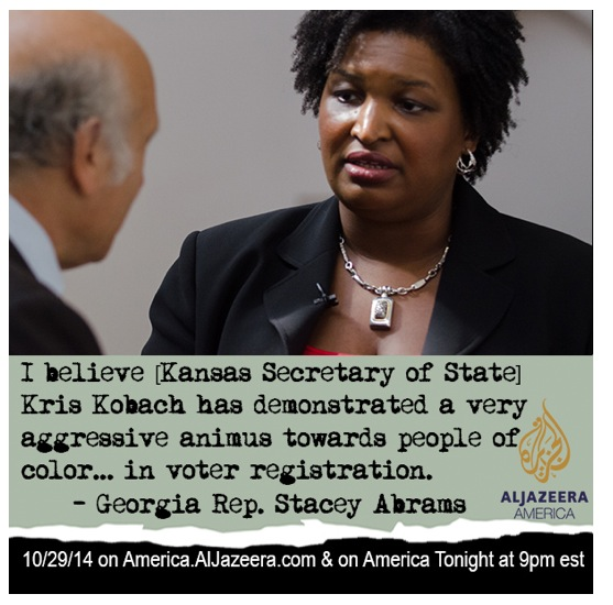 """It's biased, I think, both in form and intent,"" says Rep. Stacey Abrams, leader of the Democrats in the Georgia s"