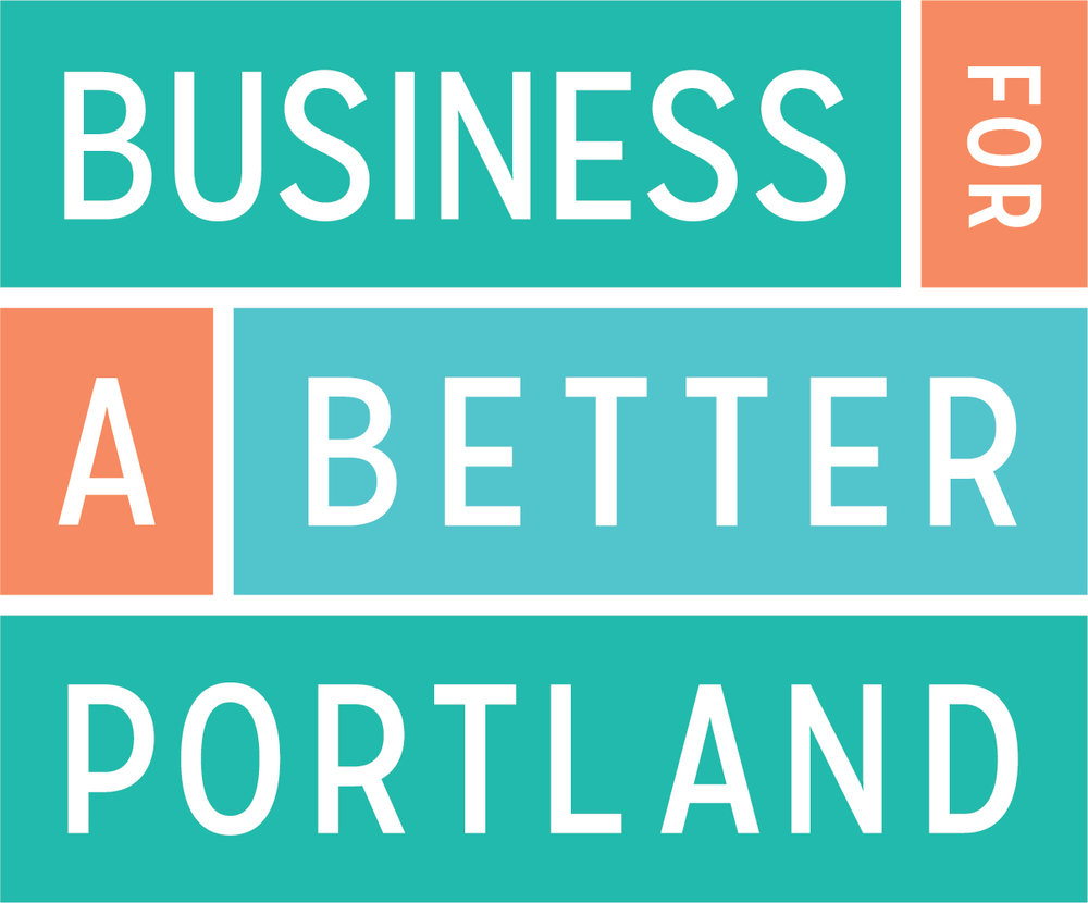 image shows Business for Better Portland's logo