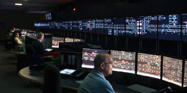 Rail traffic control center