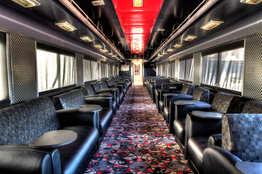 Luxurious train interior