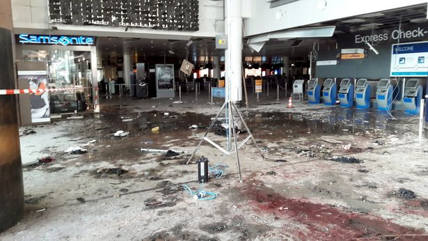 Brussels airport damage