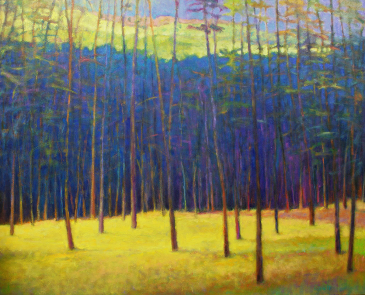 Ken Elliott Fall Remnants, oil on canvas, 48 x 60 inches