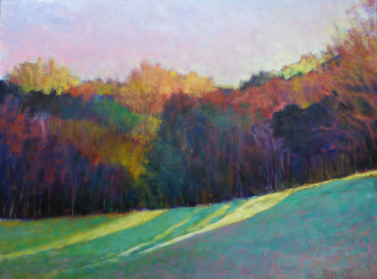 Ken Elliott Illuminated Autumn oil on canvas, 30 x 40 inches