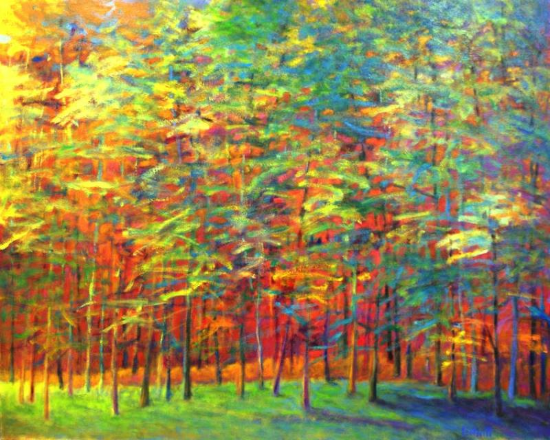 "Ken Elliott ""Heat in the Back of the Forest"" oil on canvas 48 x 60"