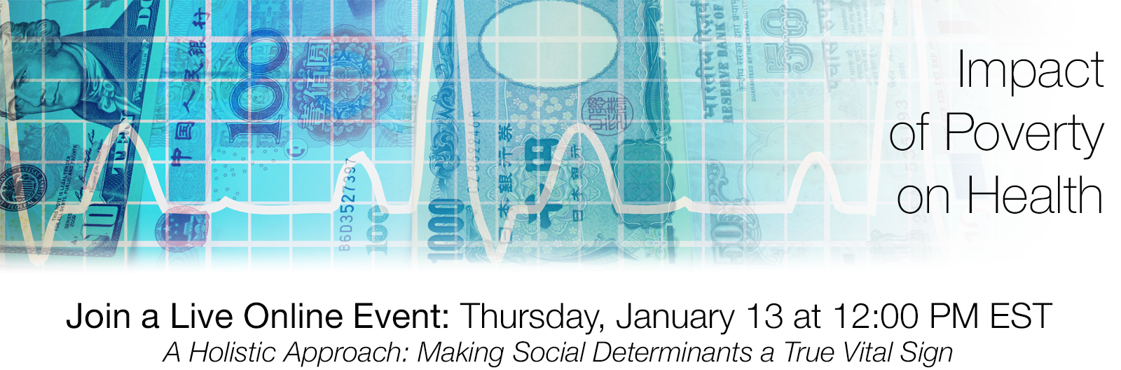 Join a Live Online Event: Thursday January 13 at 12:00 PM EST