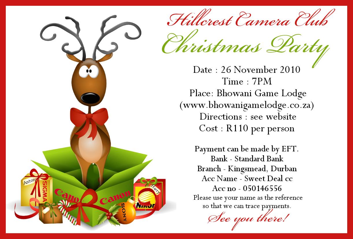 We need volunteers to organise the Christmas party. Please speak to ...