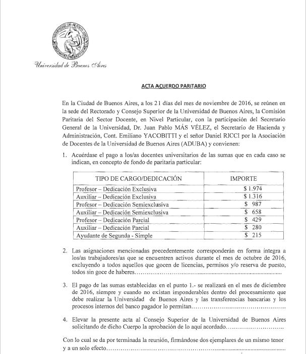 BONO DE FIN DE AÑO ACORDADO EN PARITARIAS