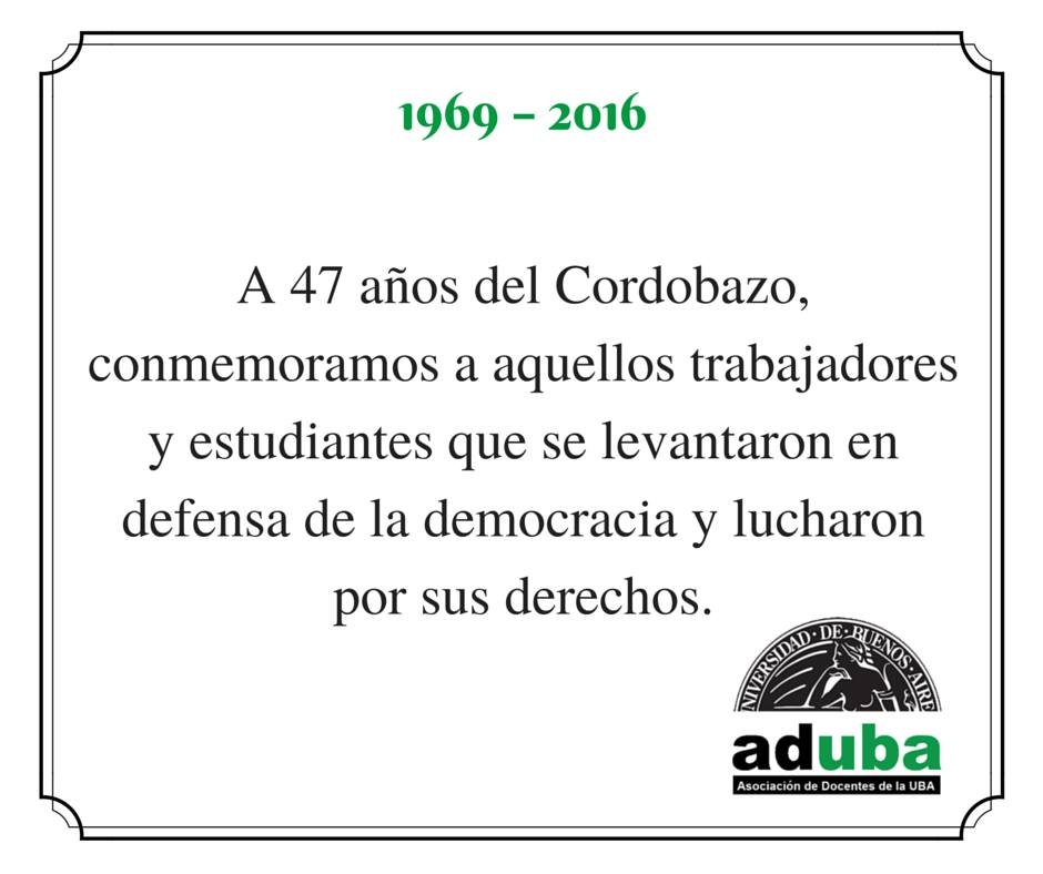 CONMEMORACIÓN A 47 AÑOS DEL CORDOBAZO