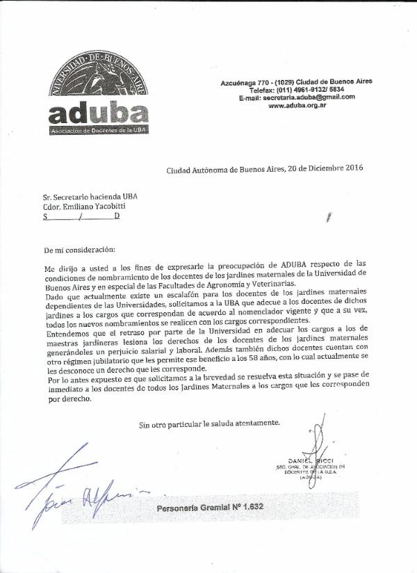 COMUNICADO PARA LOS DOCENTES DE LOS JARDINES MATERNALES